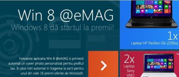 Concurs Windows 8 si Emag – castiga superpremii!