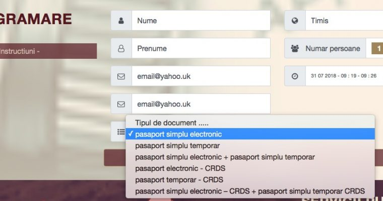 Pasaport Electronic Simplu – acte si programare