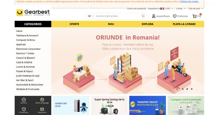 Gearbest Introduce Plata la Livrare Pentru Romania